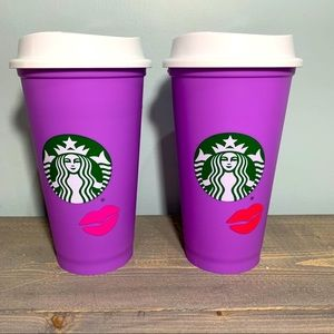 Starbucks Color Changing Lips Reusable Cup